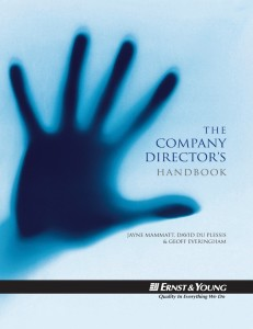 NEW EBOOK: The Company Director's Handbook by Jayne Mammatt, David du Plessis & Geoff Everingham